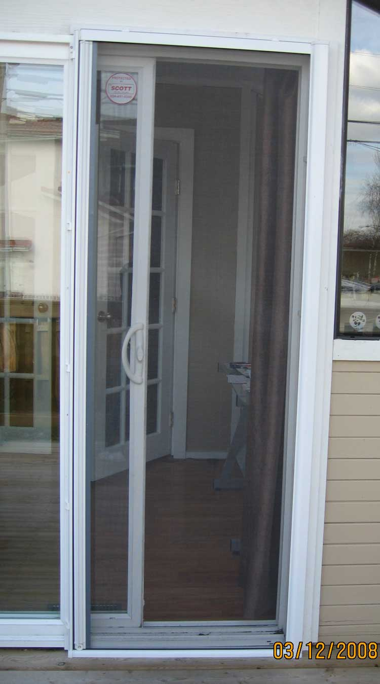 Omnifine retractable screen door and window vancouver for What is the best retractable screen door